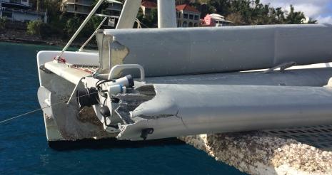 Photo of broken mast.